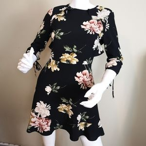 Topshop teacup ruffle floral dress size 4